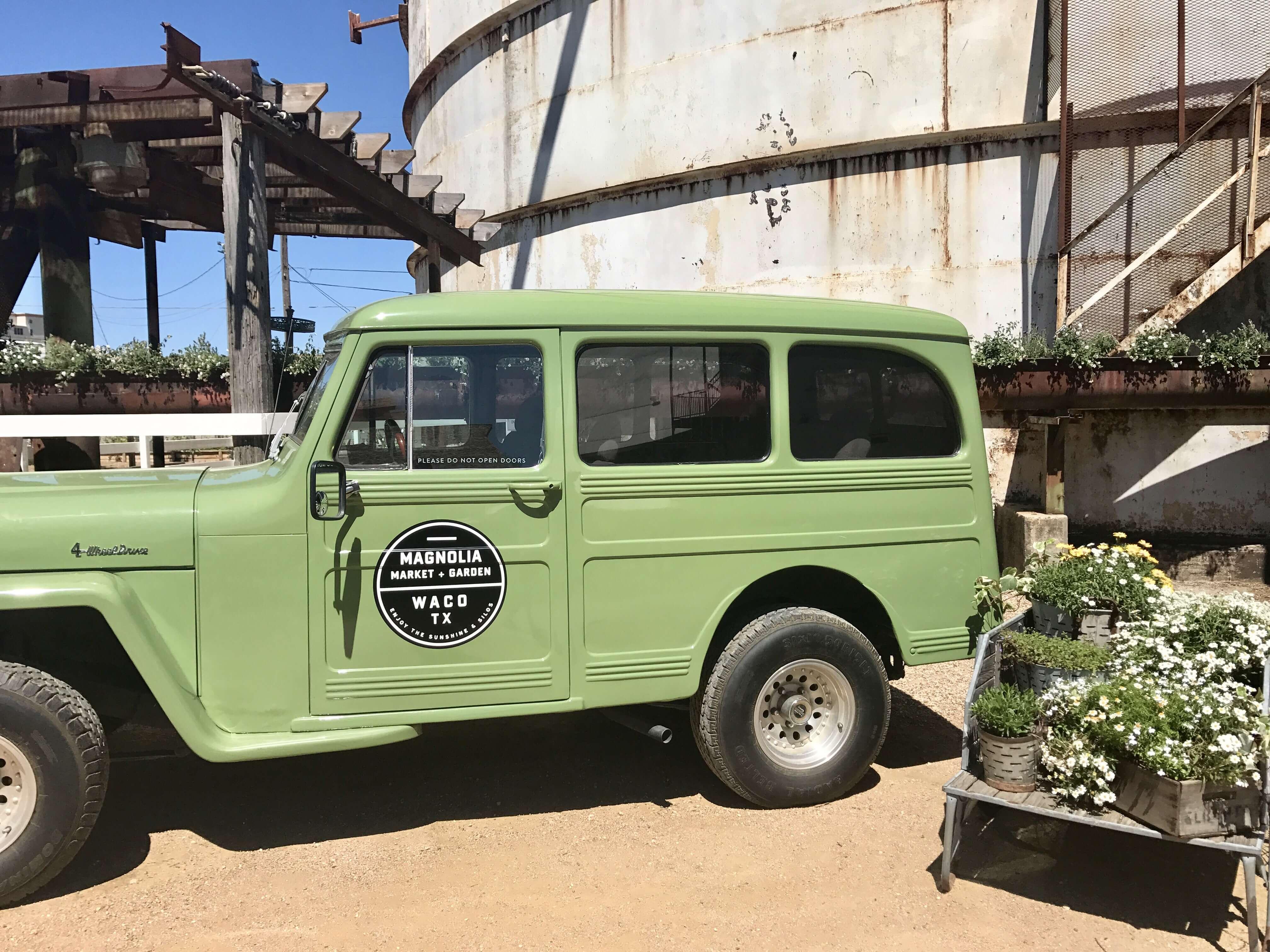 green magnolia truck