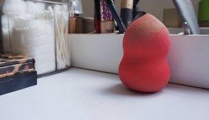 beauty sponge on counter