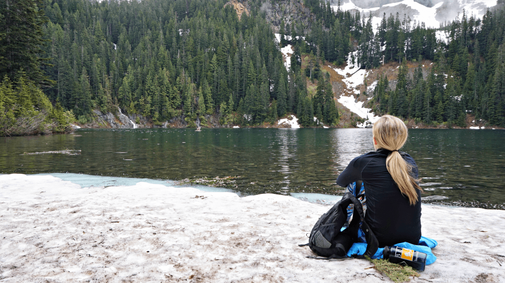 looking out over annette lake