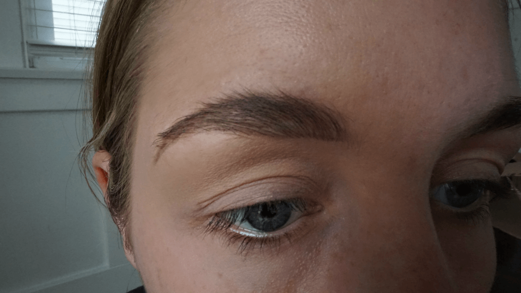 eyebrows filled in