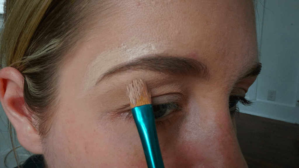 carving out eyebrow