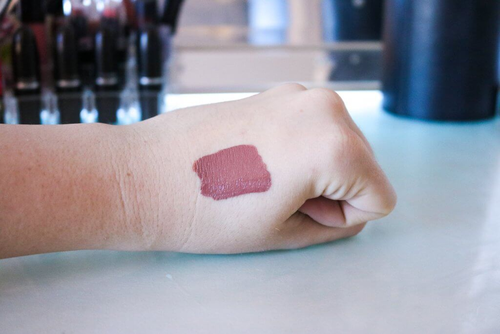 colourpop liquid lipstick strut swatch