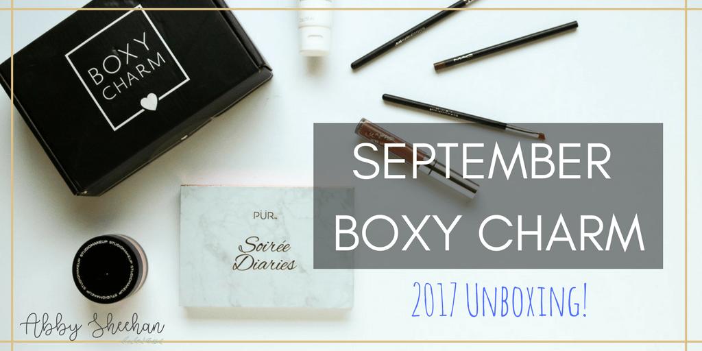 september boxy charm unboxing