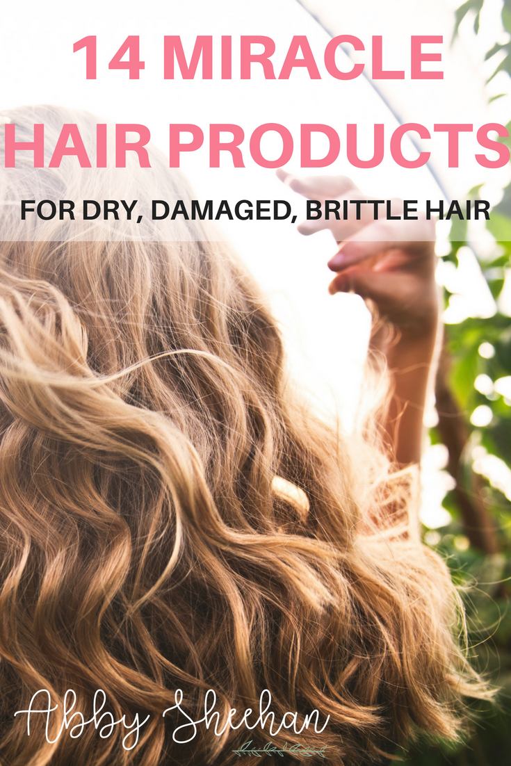 Miracle hair products that will transform your dry, damaged, brittle, breaking hair into lucious, silky, voluminous locks! #hairproducts #hair #dryhair #splitends #brittlehair #damagedhair #besthairproducts