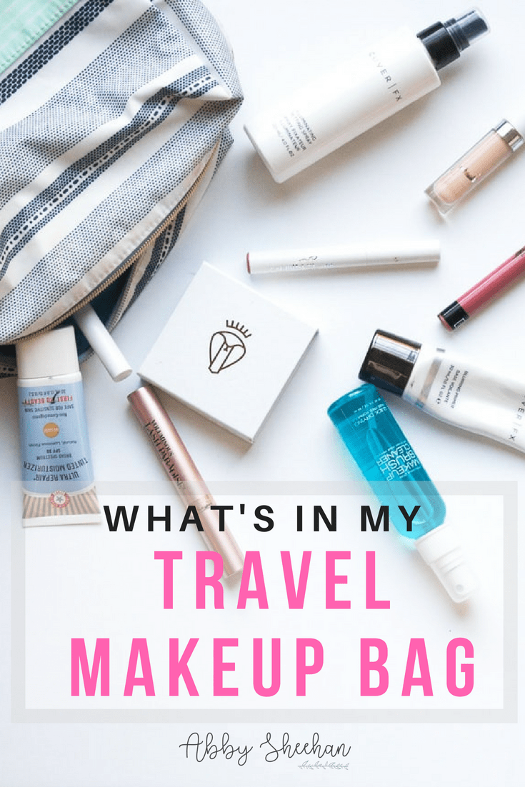 These are the essentials that I am sure to never travel without in my makeup bag! If it's you're traveling with it, then you know it's that good! #travelmakeup #travelmakeupbag #packinglist #makeuppackig #whattopack #vacationmakeup #holidaymakeup